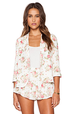 Lucca Couture Spring Blazer in Ivory Floral