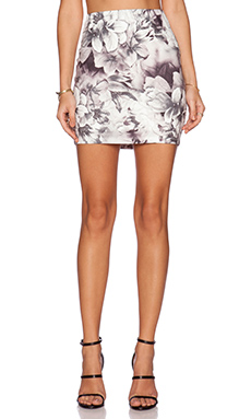 Lucca Couture High Waisted Skirt in Black White Lily