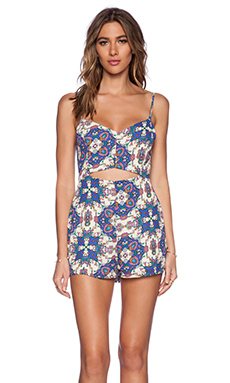 Lucca Couture Romper in Ivory Multi