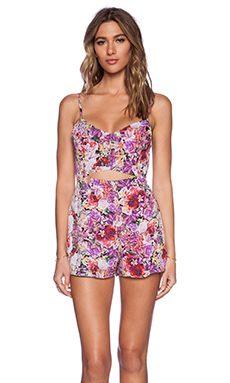 Lucca Couture Romper in Magenta Floral