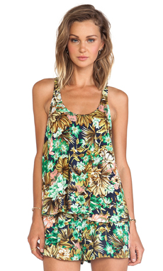 Lucca Couture Tank in Navy Floral