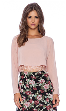 Lucca Couture Long Sleeve Top in Blush