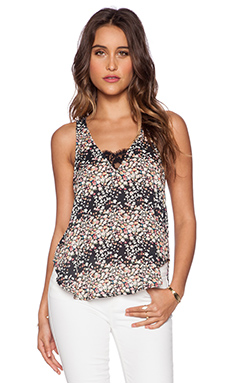 Lucca Couture Dressy Tank in Black Meadow