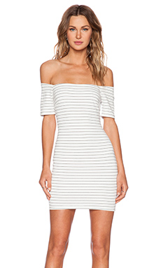 Lucy Paris Between The Lines Bodycon Dress in Stripe