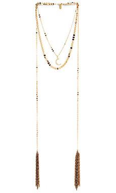 Lucky Star Luna Wrap Necklace in Gold