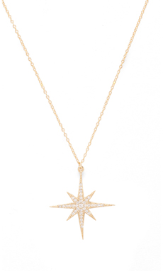 Lucky Star North Star Necklace in Gold