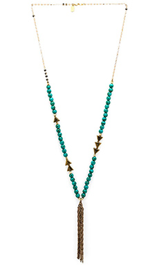Lucky Star Festival Necklace in Turquoise & Gold