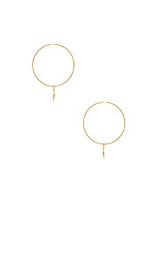 Lucky Star Shanti Hoop Earrings in Gold