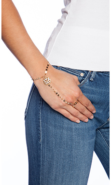 Lucky Star Cadiz Hand Chain in Gold & Crystal