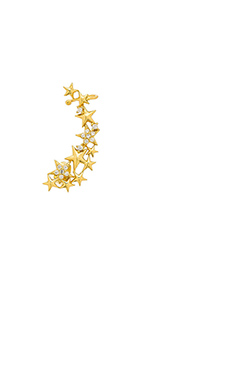Lucky Star Constellation Ear Cuff in Gold