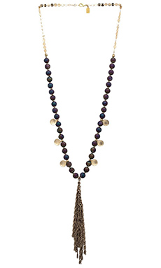 Lucky Star Nomad Tassel Necklace in Metallic Cypress