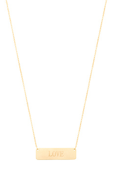 Lucky Star Love Bar Necklace in Gold