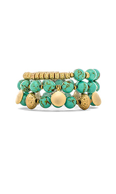 Lucky Star Nomad Trio Bracelet in Turquoise