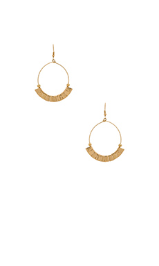 Lucky Star Tribal Hoop Earring in Gold