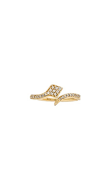 Lucky Star Stackable Snake Ring in Gold