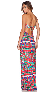Luli Fama Besos de Sal Maxi Dress in Multicolor