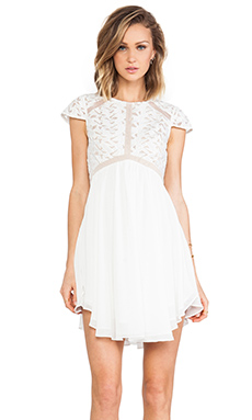 Lumier Heart of glass A-line Dress in White
