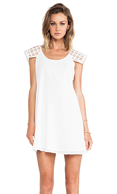 Lumier Check It Out Tunic Dress in White
