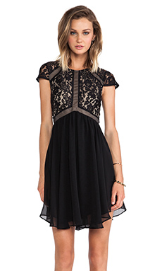 Lumier Heart of Glass A-line Dress in Black