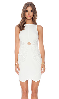 Lumier Heaven Sent Mini Dress in White