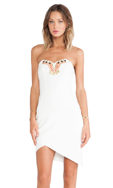 Lumier Crystallized Mini Dress in White