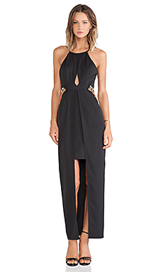 Lumier Crystallized Maxi Dress in Black