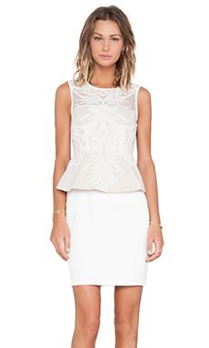 Lumier Lover's Lane Peplum Dress in White