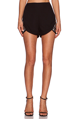 Lumier Gilded Youth Short in Black