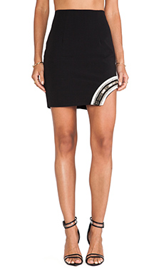 Lumier The Path Of Glory Mini Skirt in Black & White