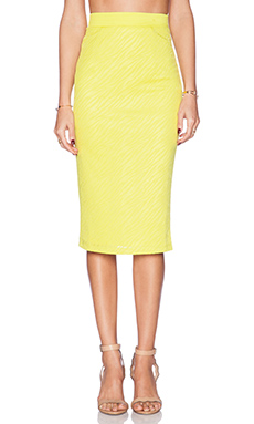 Lumier Animal Instinct Midi Skirt in Yellow