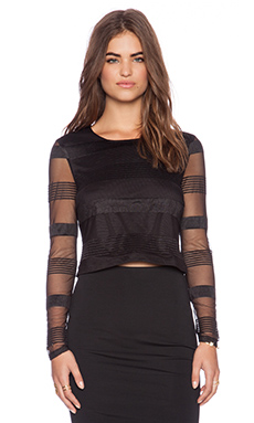 Lumier Lionheart Long Sleeve Top in Black