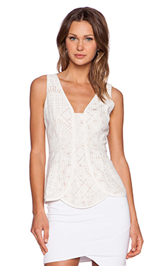 Lumier Virtue & Vice Top in White Lace