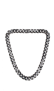 Luv AJ Classique Chain Necklace in Gunmetal