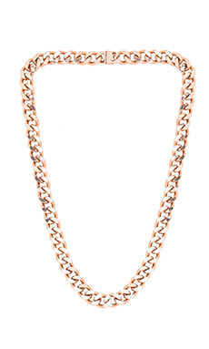 Luv AJ Classique Chain Necklace in Rose Gold