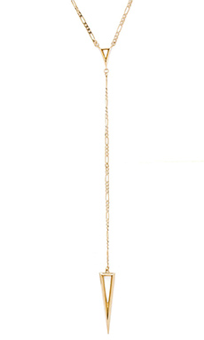 Luv AJ The Saber Rosary Necklace in Antique 24 KT Gold