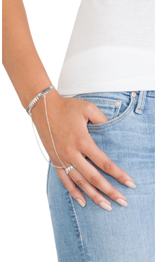 Luv AJ The Crown Cuff Handpiece in Antique Silver