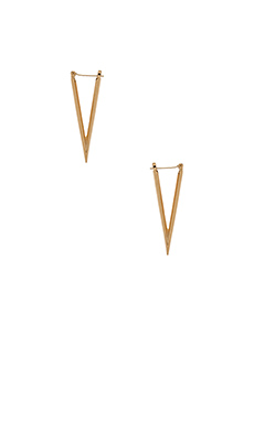 Luv AJ The Dagger Earrings in Antique 24KT Gold