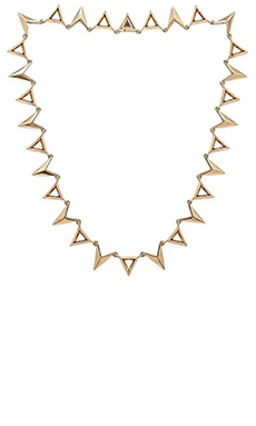 Luv AJ The Saber Bib Necklace in Antique 24KT Gold