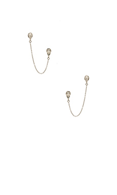 Luv AJ The Double Drop Post Earring in Silver