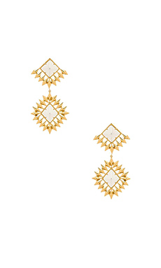 Luv AJ The Diamond Stud Statement Earring in Gold