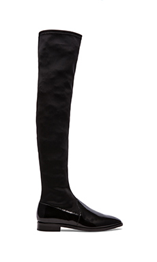 Luxury Rebel Devon Over The Knee Boots in Black