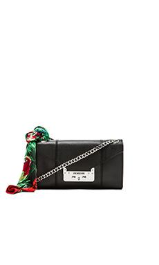 Love Moschino Saffiano I Love Scarf Shoulder Bag in Black