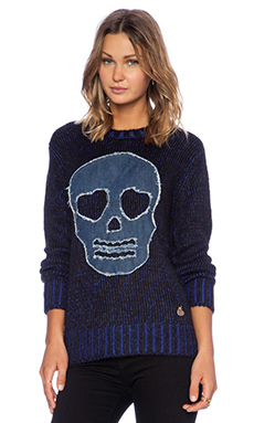 Love Moschino Skull Sweater in Blue
