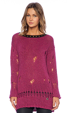 Love Moschino Printed Sweater in Magenta