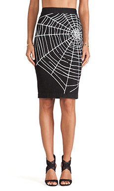 Love Moschino Web Skirt in Black