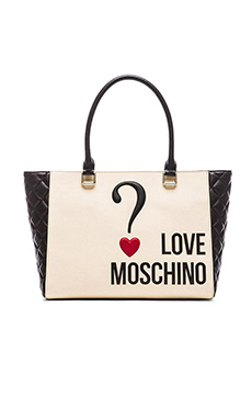 Love Moschino Tote in Black & White