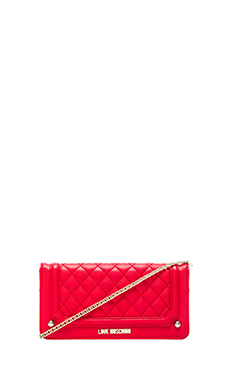 Love Moschino Chained Wallet in Red