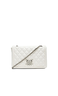 Love Moschino Shoulder Quilted Bag in White