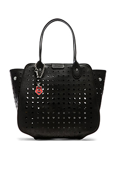 Love Moschino I Love Grommet Tote in Black