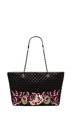 Love Moschino I Love Embroidery Tote in Nero